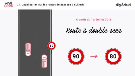 Le passage à 80 km/h