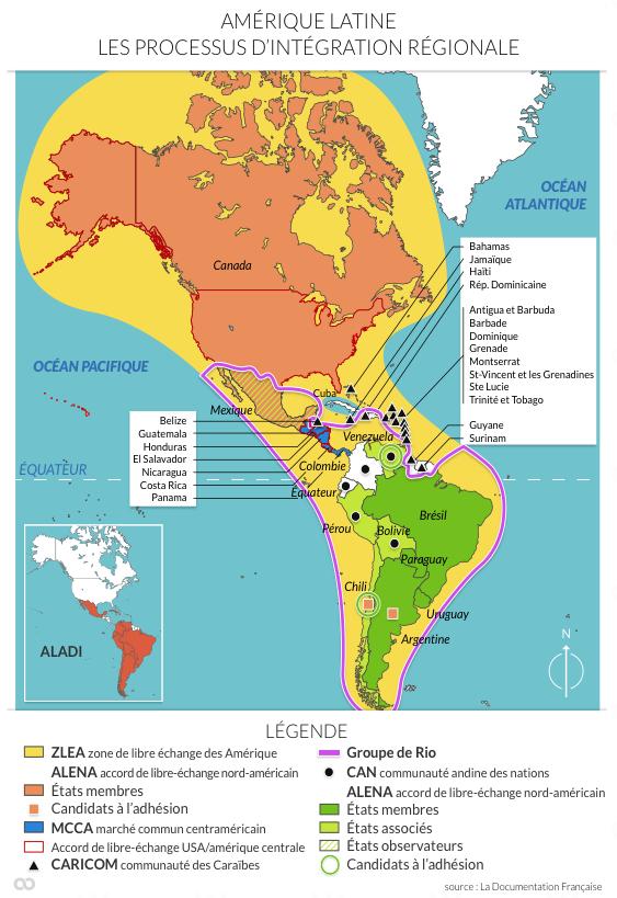 Quelles dynamiques spatiales affectent le continent americain